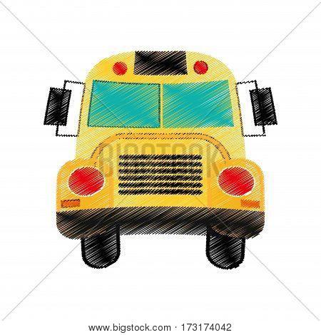 drawing school bus design vector illsutration eps 10