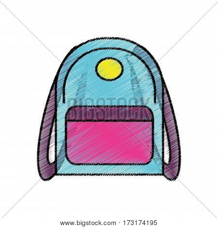 drawing backpack school icon vector illustration eps 10