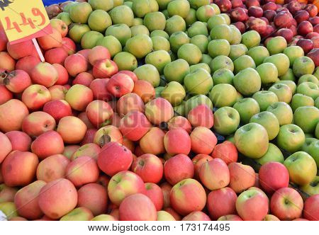 Sale of red apples, green apples pictures of green apples and green apples