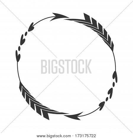 arrow label decoration round vector illustration eps 10