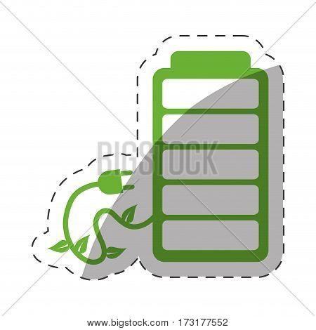 green battery plug environment design vector illustration eps 10
