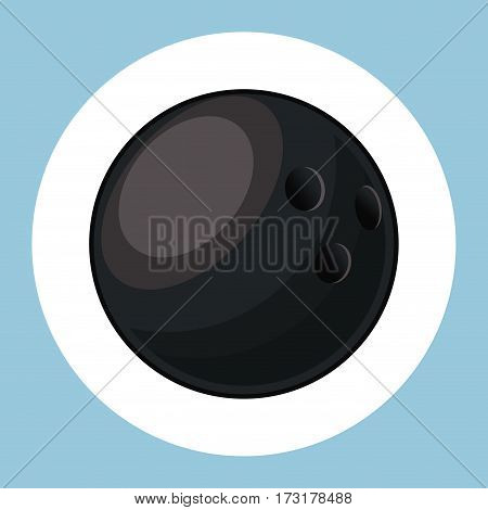 bowling ball equipment icon vector illustration eps 10