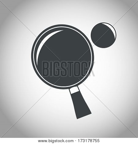 racket and ball ping pong black and white vector illustration eps 10