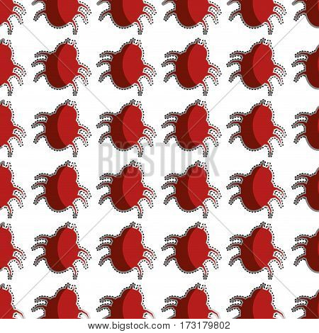color pattern with beetle virus vector illustration