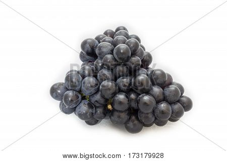 Black grapes bunch isolated on white background package design element