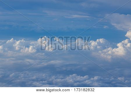 Blue sky and white clouds nautral landscape background
