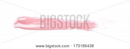 Line stroke of paint as a design underline element isolated over the white background