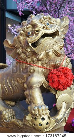 Oriental guardian lion