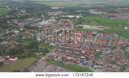Ariel view of Alor Setar, Malaysia