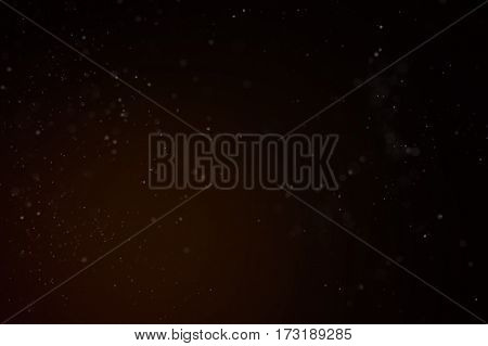 Abstract Dust Particle Background with Light Leak. Narrow Depth of Field.  Illustration.