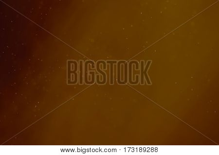 Abstract Dust Particle Background with Light Leak and Narrow Depth of Field.  Illustration.