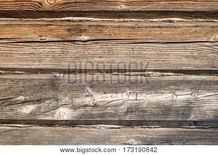 Texture Of Old Wooden Blockhouse