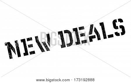 New Deals rubber stamp. Grunge design with dust scratches. Effects can be easily removed for a clean, crisp look. Color is easily changed.