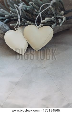 vintage heart decoration on the background of old paper. background mode.