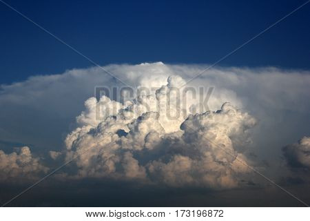 cloudy dark  sky in a rainy day