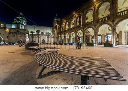 Italy Sicily Mazara del Vallo (Trapani Province) the domes of the Cathedral in Republic Square