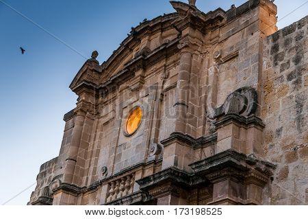 Italy Sicily Mazara del Vallo (Trapani Province) view of Sant'Ignazio Church Facade This early 18th-century church collapsed in the 1930s