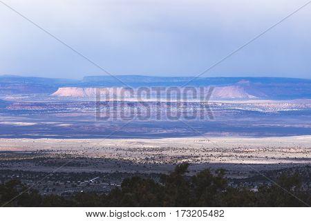 Mesas In The Desert