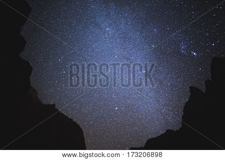 Stars And Silhouettes In Zion National Park