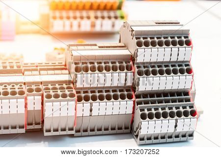 Wiring connectors or Terminal Block for Industrial Electronic.