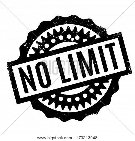 No Limit rubber stamp. Grunge design with dust scratches. Effects can be easily removed for a clean, crisp look. Color is easily changed.