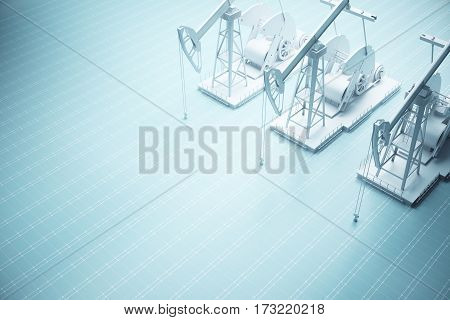 Three Oil Derricks