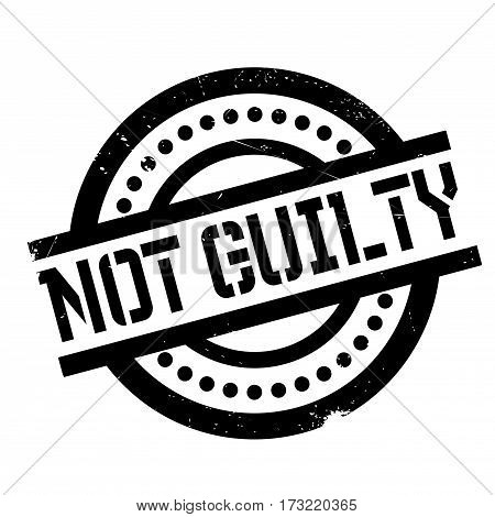 Not Guilty rubber stamp. Grunge design with dust scratches. Effects can be easily removed for a clean, crisp look. Color is easily changed.