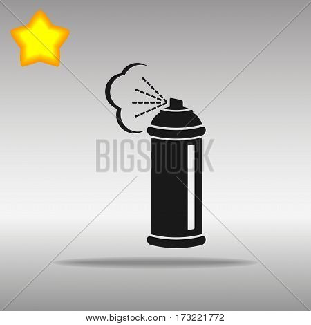 black Spray Icon button logo symbol concept high quality on the gray background