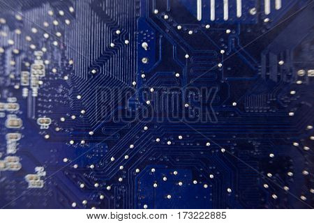 Detailed close-up of a motherboard