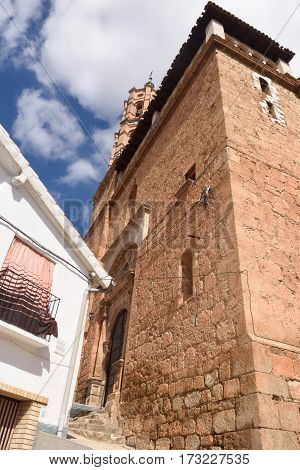 Church of Fuentes de Giloca Zaragoza province Aragon Spain