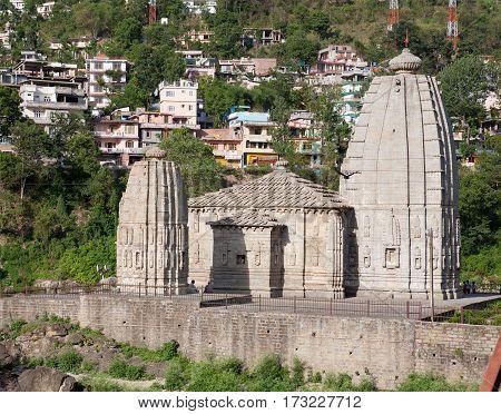 MANDI, INDIA. 4 Jun 2009:  Ancient Temple in North India - Panchbaktar Mahadev Mandir (Punj Bakhter Temple). Mandi, Himachal Pradesh, India