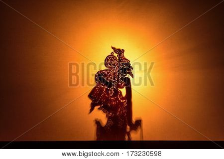 Traditional south of Thailand Shadow Puppet Show.