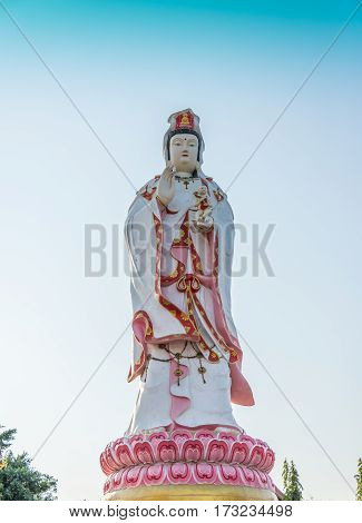 Statue of Guan Yin in Thailand Statue of are blessed.