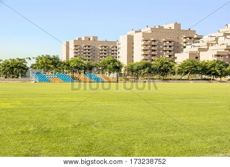 Football field in a small European town