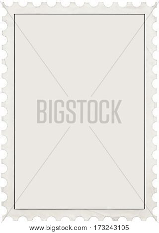 Blank Empty Postage Stamp Template Cutout