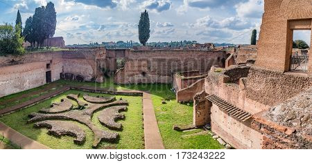 Palace of Augustus on Palatine hill in Rome Italy