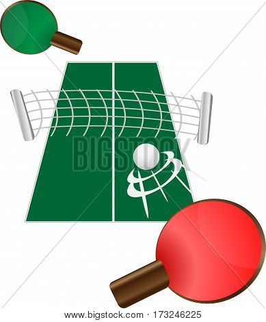 table tennis. ping pong. Vector illustration eps10 graphic