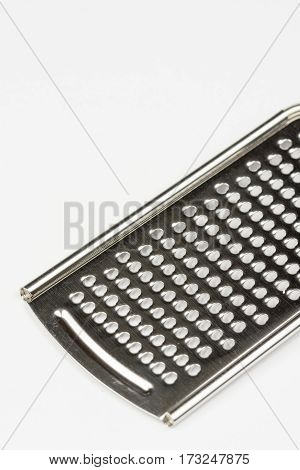 Hand Metal Grater Isolated Over White