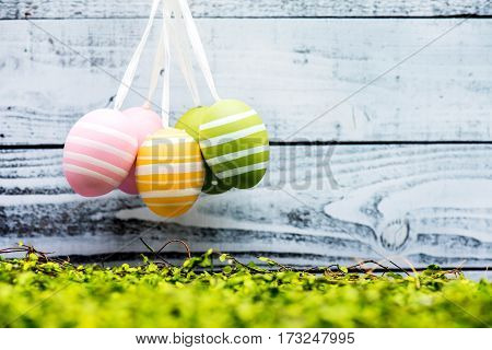 Happy Easter day bunny and egg Christians worldwide celebrate