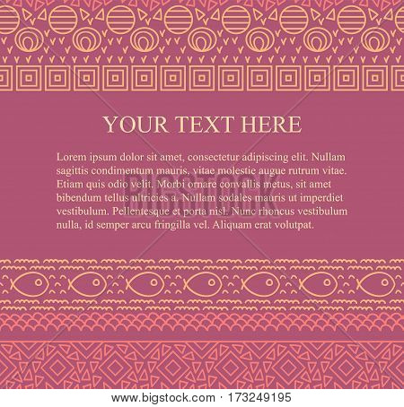 Ethnic tribal abstract seamless background pattern in vector with place for your text