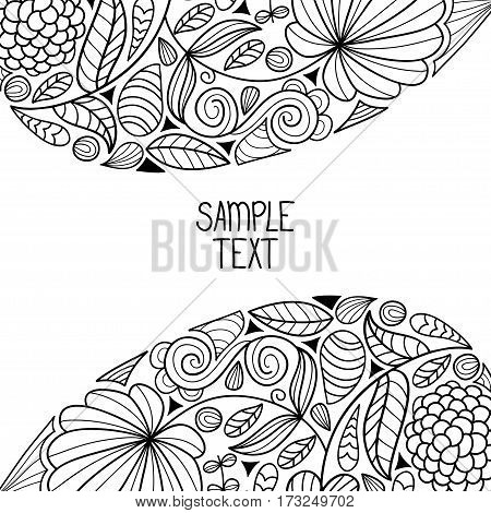 Floral decorative natural pattern background with place for text. Can be used for banner, card, poster, label, page decoration or web design