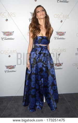 LOS ANGELES - FEB 23:  Angela Sarafyan at the Cadillac Hosts their Annual Oscar Week Soiree at the Chateau Marmont on February 23, 2017 in West Hollywood, CA