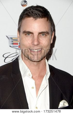 LOS ANGELES - FEB 23:  Colin Egglesfield at the Cadillac Hosts their Annual Oscar Week Soiree at the Chateau Marmont on February 23, 2017 in West Hollywood, CA