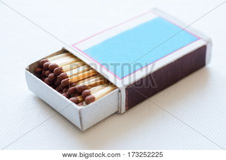 Boxes Of Matches On A White Background Closeup