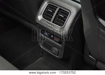 control of air conditioning and ventilation for rear passengers
