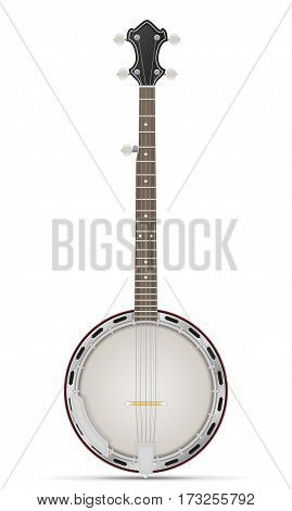 banjo stock vector illustration isolated on white background