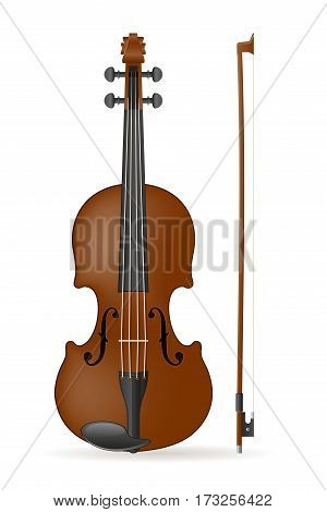 violin stock vector illustration isolated on white background
