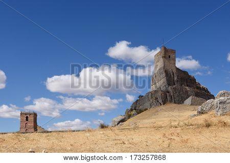 Castle Santa Maria del Mar Route Cid Don Quixote Atienza Guadalajara province Castilla La Mancha Spain