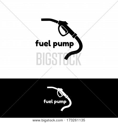 Black silhouette of a fuel pump. Fuel pump icon