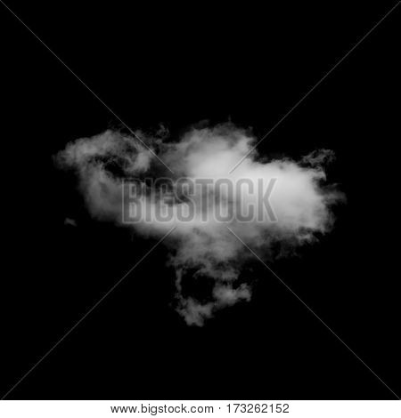 Close up of white clouds on black background